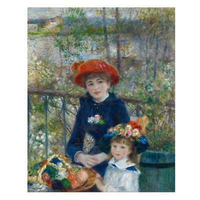 Methodical Pierre Auguste Renoir Painting Two Sisters Other Dollhouse Miniatures