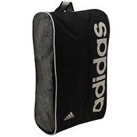 Adidas Unisex Linear Boot Shoe Bag Zipped Mesh Side Panels Carry Handle Black