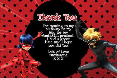 Set of 10 Ladybug Thank You Card