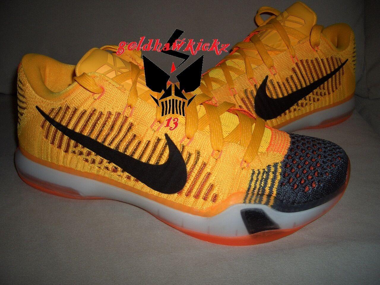 Nike - x 10 elite basso rivalità chester giallo - arancio, grigio flyknit lakers labirinto