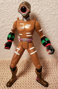 "Power Rangers Gold Time Force Cyclobot 5"" Figure 2000 Bandai Lever Action"