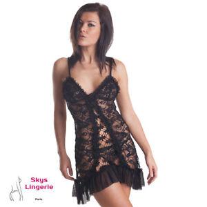 Gaia-nuisette-sexy-coloris-noir-skys-lingerie-taille-S-M