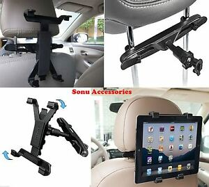 Back Seat Universal Car Holder Mount for any 7 to 11 Inch Tablet