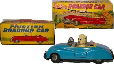 """Blechspielzeug Autos & Lkw Seltene Vintage 597ms """" Roadhog """" Coupe Mit Zick-zack Aktion & Original Box"""