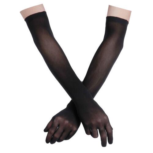 Une paire de femmes chaud sans couture collant gants long transparent mitaines Full Finger