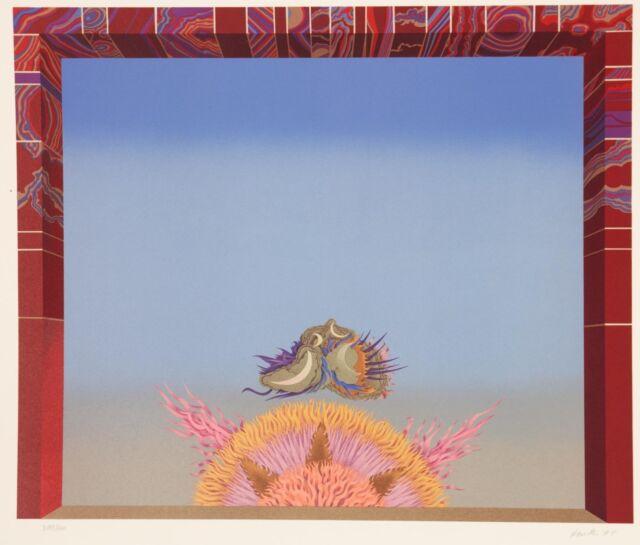 Wolfgang Hutter /Farblithographie/ Vorhang /Curtain- Zauberflöte 1974/ 200 Ex.