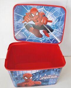 Image Is Loading Marvel Ultimate Spiderman Kid 039 S Storage Bin
