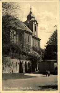 Hildburghausen-Turingia-1930-strade-partita-A-D-Chiesa-vecchia-cartolina