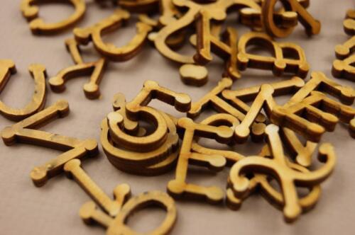 1cm Alphabet Dekoration Selbstklebend Lesen NF5 250+ Holz kleine Buchstaben