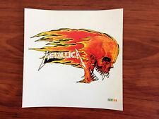 METALLICA - FLAMING SKULL - STICKER/DECAL - BRAND NEW VINTAGE - MUSIC BAND 006