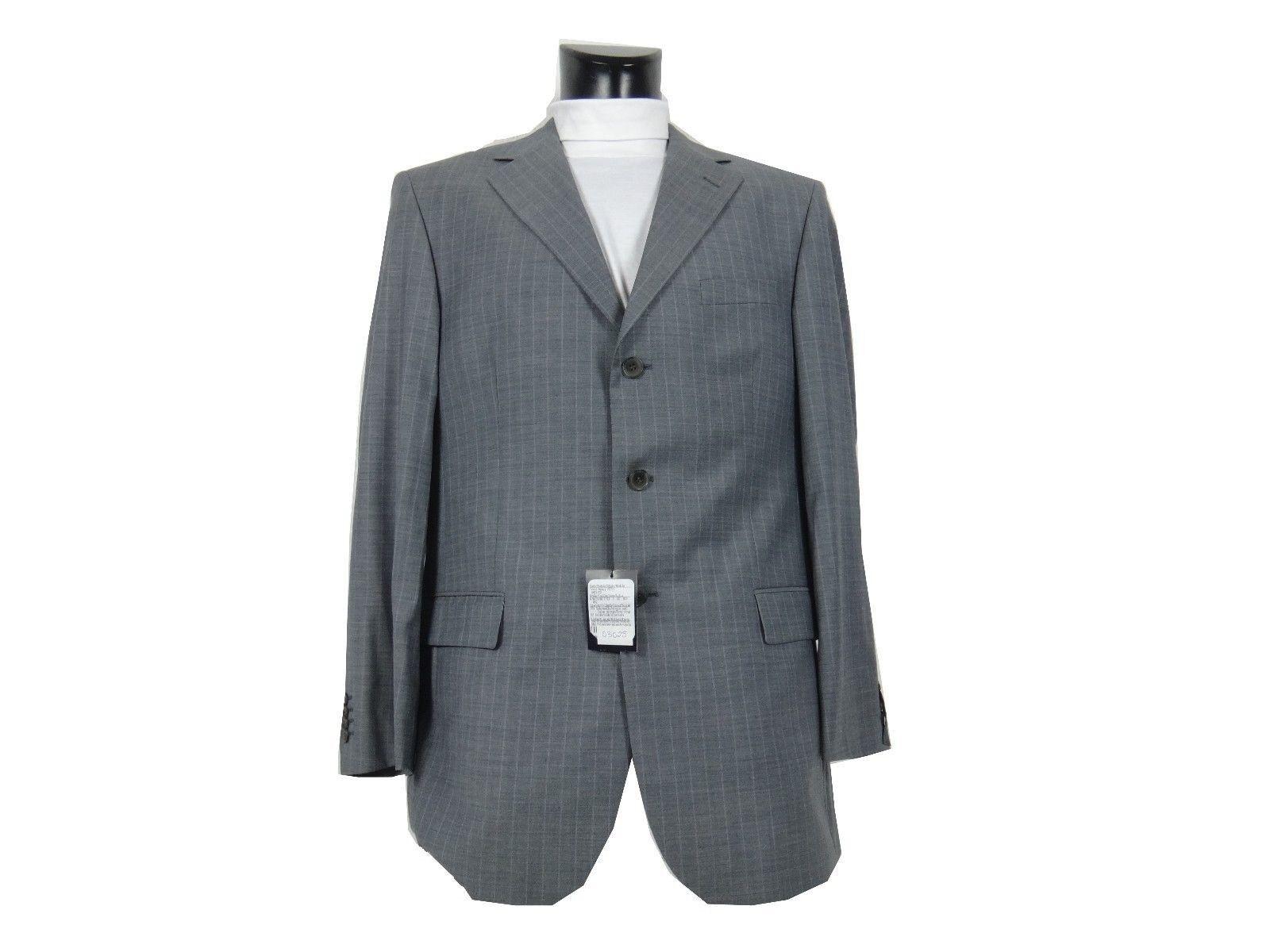 Z03025 DANIEL HECHTER Designer Trend Anzug - Gr. 52 - grau Nadelstreifen - Neu