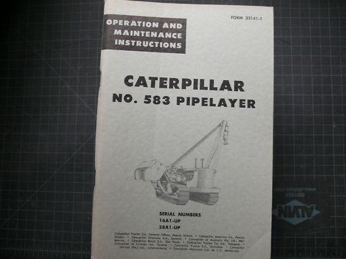 CAT Caterpillar 583 Pipelayer Operation Operator Maintenance Manual 16A tractor