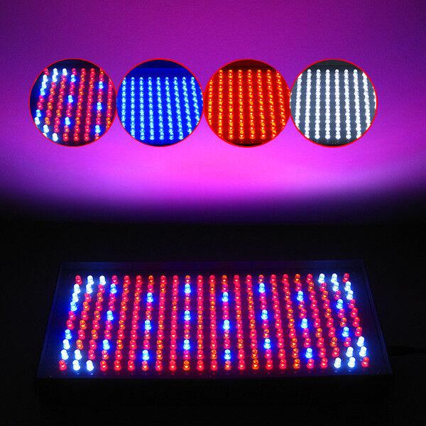 Pick One Red Blue Orange White Hydroponic LED Grow Light Lamp 225/120/110V
