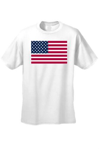 MEN/'S WHITE AMERICAN FLAG T-SHIRT USA PRIDE STARS STRIPES PATRIOTIC TEE S-5X