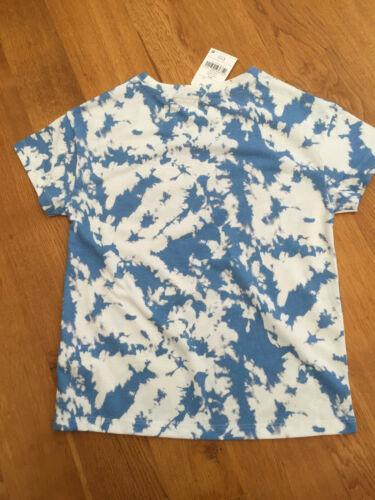 BNWT NEXT Girls Blue Tie-Dye /'Amazing/' T-Shirt