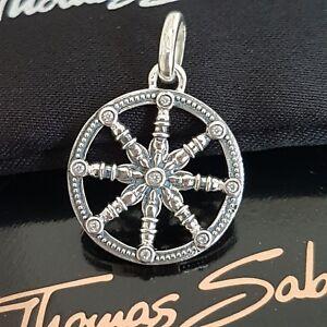 THOMAS-SABO-Glueck-Wheel-of-Karma-Kette-Anhaenger-925-Silber-Lucky-Pendant-NEU