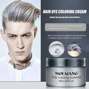 Hot Silver Colour Grey Hair Wax Men Women Grandma Hair Ash Dye ...