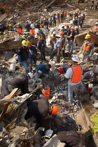 Twin Towers 9//11 Ground Zero Search And Cleanup Effort Silver Halide Photo