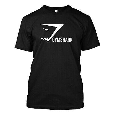 Men/'s Black T-shirt  Tee Gymshark Logo .