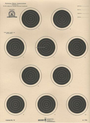 NRA Official 75 Foot Smallbore A7//10 20 A-7//10 Conventional 4-Position Tag