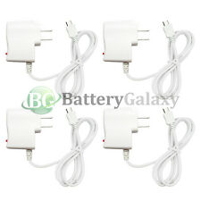 4 White Micro USB Battery Wall Charger for LG Optimus Zone 3 Stylo 2 Tribute 5