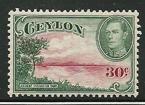 Album-Treasures-Ceylon-Scott-285-30c-George-VI-Ancient-Reservoir-Mint-Hinged