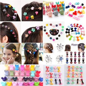 Lots-30pc-Mixed-Cartoon-Style-Baby-Kids-Girl-HairPin-Mini-Claw-Hair-Clips-Flower