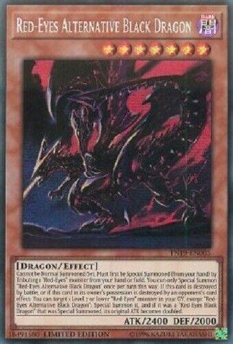 Red-Eyes Alternative Black Dragon TN19-EN005 Prismatic Secret Rare yugioh konami