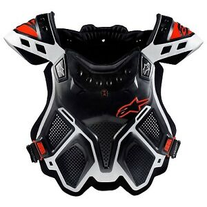 Alpinestars A-10 Full Chest Protector-White//Black//Red-M//L