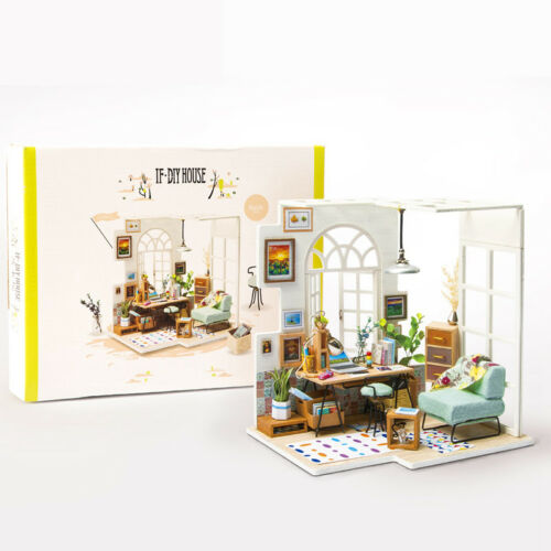Robotim DIY Modern Doll Houses Miniature Toy Birthday Gift for Kids Girls Women