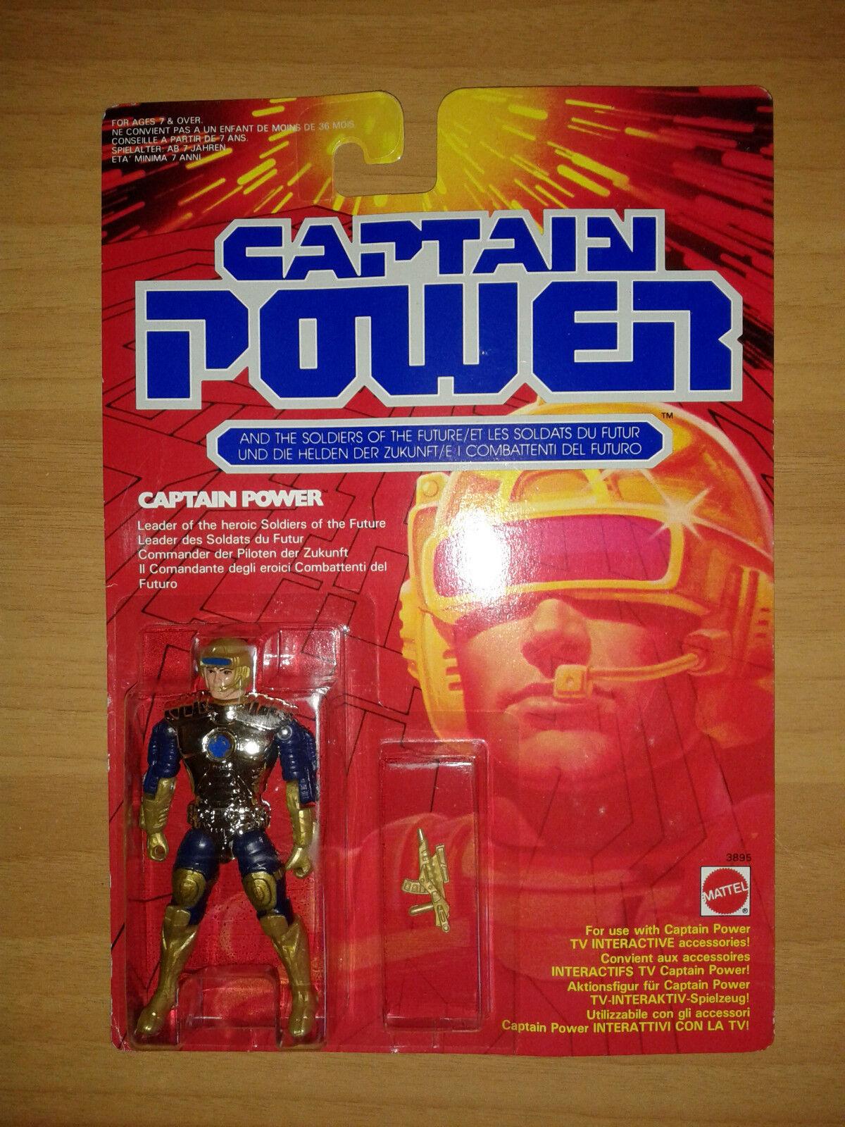 CAPTAIN POWER Sealed 1987 Mattel Action Figure Giocattoli Toy Spielzeug