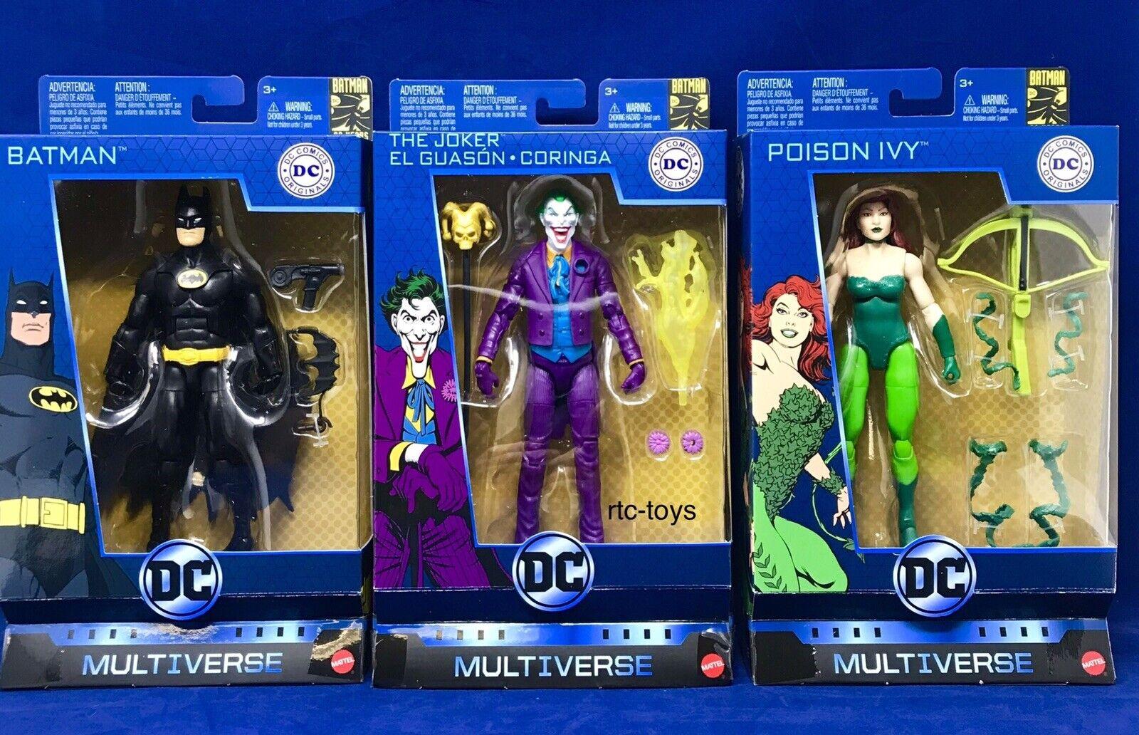 DC Multiverse Originals  80th Batuomo Joker Poison Ivy Set Of 3 cifras nuovo Mattel  articoli promozionali