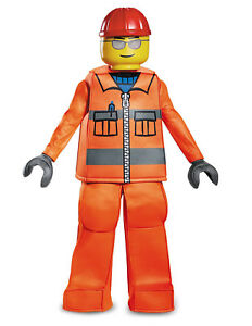 Image is loading Lego-Construction-Worker-Man-Halloween-Costume-Child-Kid-  sc 1 st  eBay & Lego Construction Worker Man Halloween Costume Child Kid S 4-6 ...