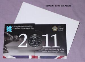 2011 ROYAL MINT LONDON OLYMPICS SPECIMEN COUNTDOWN £5 CROWN IN FOLDER
