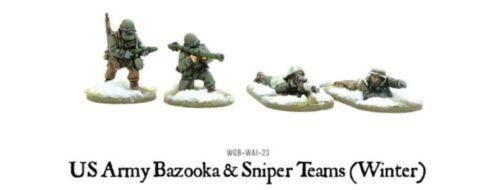 "Winter Warlord Games Bolt Action /""US army bazooka and sniper teams"