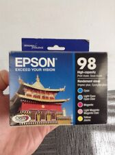 Epson 98 Color C/M/Y/LC/LM Ink T098920 High Yield Combo 5/Pack Expires 2017/18!