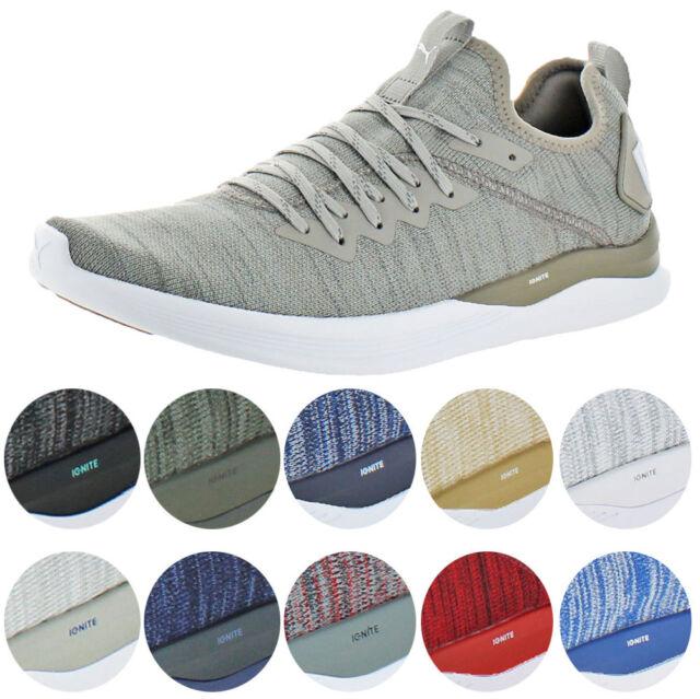 Puma IGNITE Flash evoKNIT Men's Knit Mid Top Athleisure Trainer Sneaker Shoes