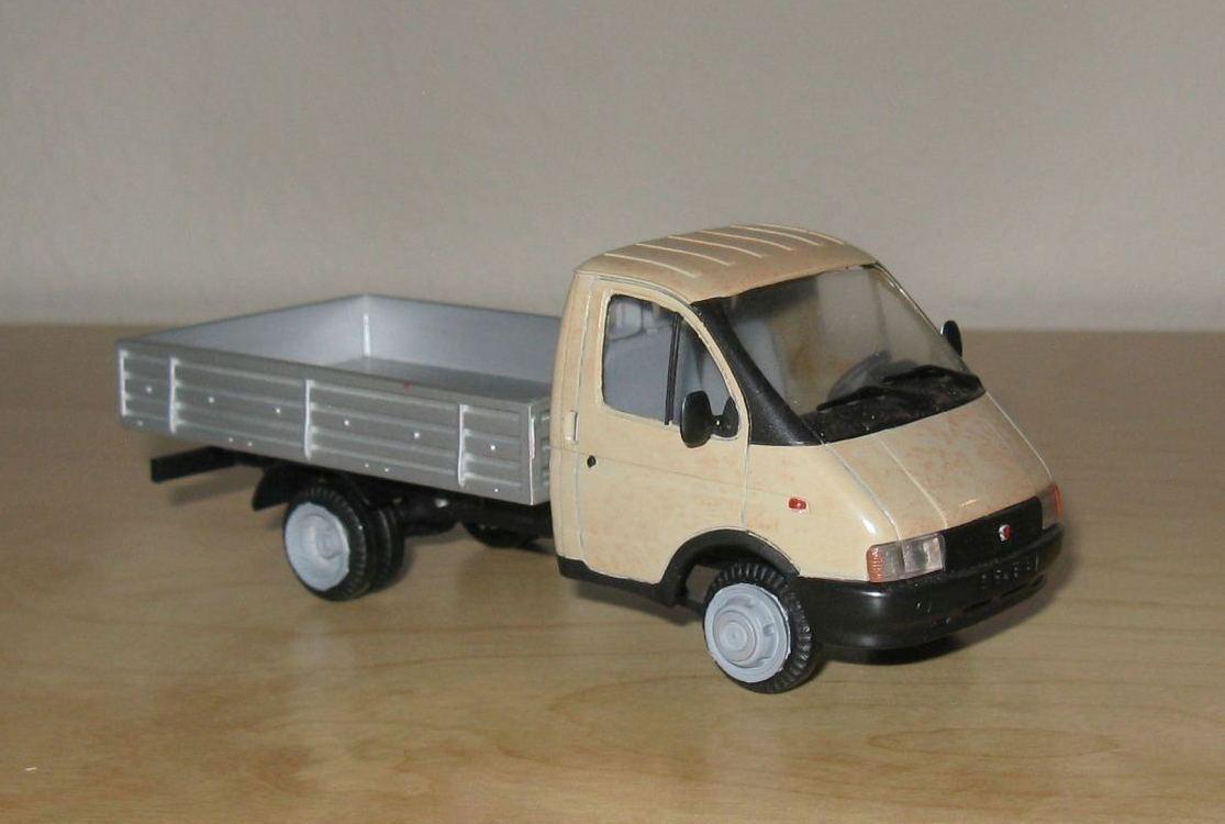 Nuevos productos de artículos novedosos. 1/43 GAZ-3302 camioneta KhersГіn Modelos modelo modelo modelo ruso херсон ГАЗ газель пикап  promociones de equipo