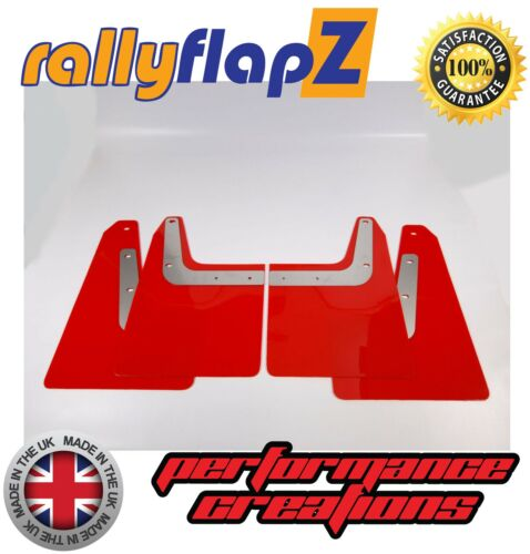 04-08 2nd Gen rallyflapZ 4mm PVC Red Custom Design Mudflaps SUBARU FORESTER