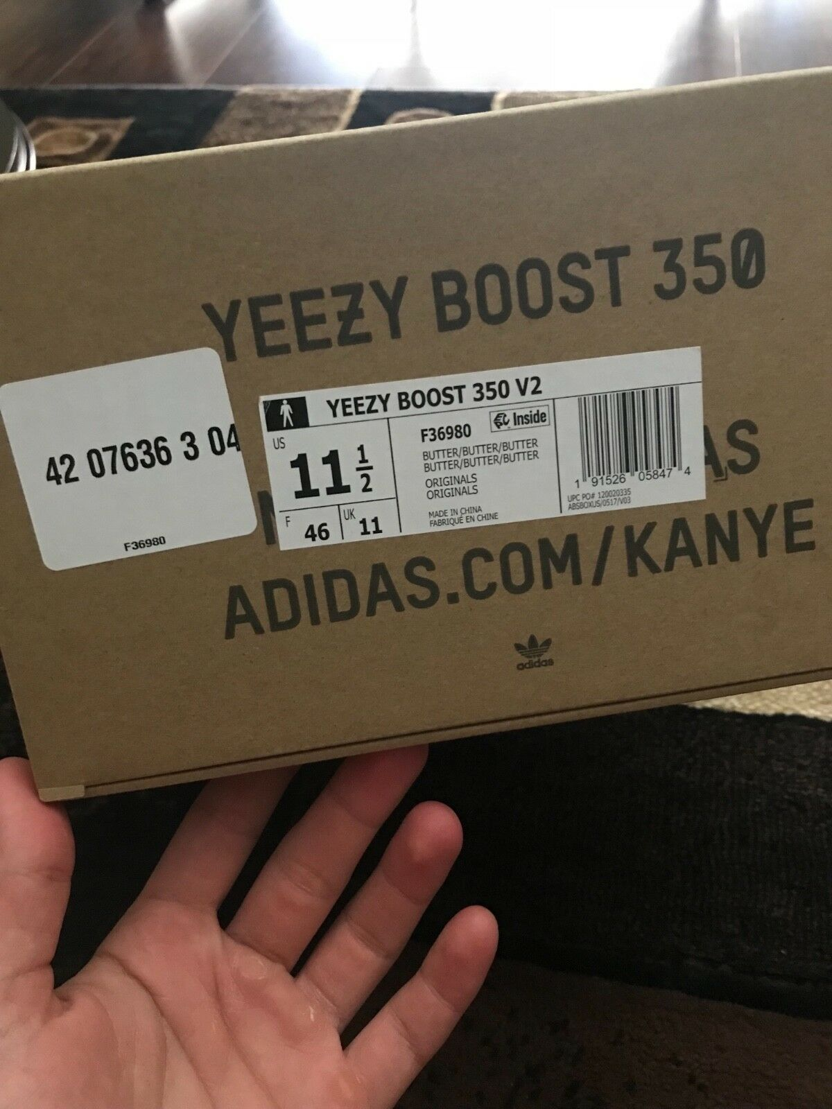 1000% Authentic Yeezys Boost 350 V2 Butter SZ 10.5