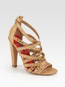 395-Charles-Jourdan-Walden-Leather-Strappy-Heeled-Sandals-Tan-Caramel-9-5-40