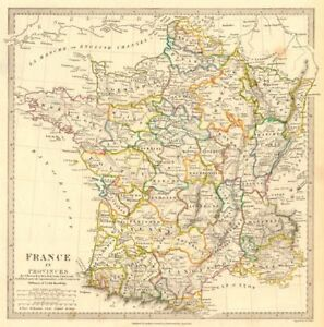 France In Provinces Shows Provinces <1790 Original Hand Colour.sduk 1844 Map Sales Of Quality Assurance