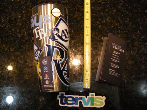 """Tervis Tumbler Tampa Bay Rays /""""All Over/"""" Stainless Steel 30oz with Lid"""