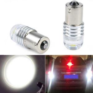 10Pcs 1156 BA15S P21W DC 12V Q5 LED Auto Car Reverse Lamp Cob White Lights New
