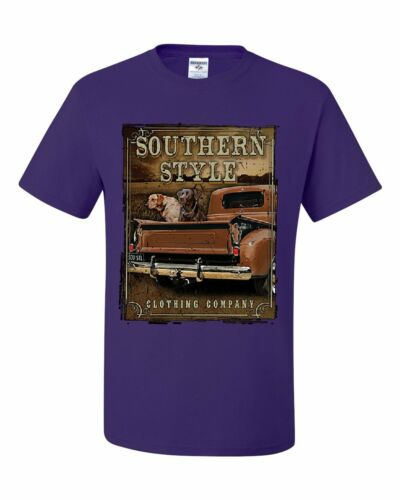 Southern Style T-Shirt Truck Country Farm Labrador Retriever Tee Shirt