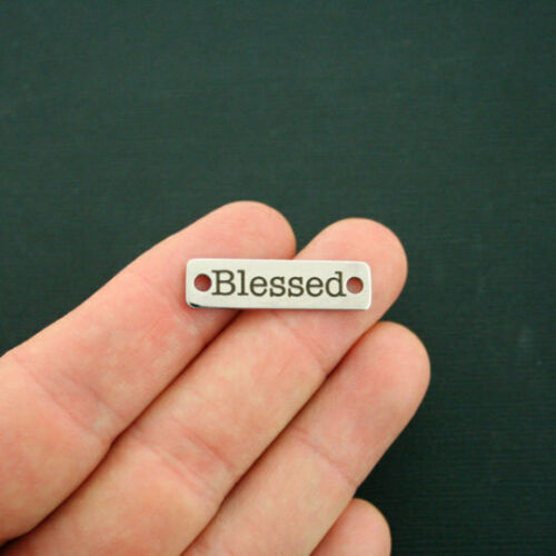 Blessed Connector Charm Stainless Steel Bar CON085 Quantity Options