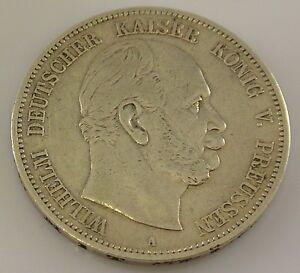 5 Mark Silber Silbermünze Wilhelm Deutscher Kaiser König V