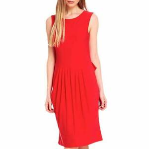 fd7f4adf7d0 Ossie Clark Women s Vintage Inspired Red Wisley Stretch Dress RRP ...