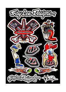 troy lee designs motocross bumper decal sticker set ebay
