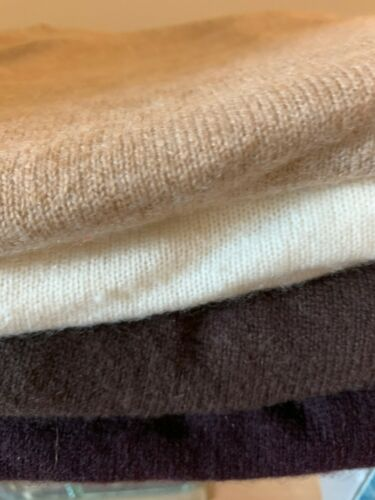 Lot of 4 Women's 100% Cashmere Sweaters Pre Owned